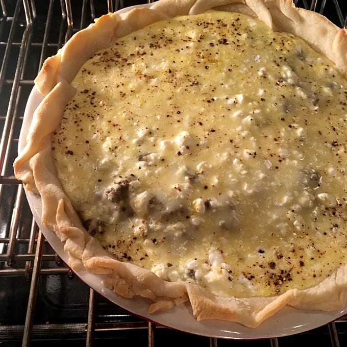 Ground Elk Cottage Cheese Pie