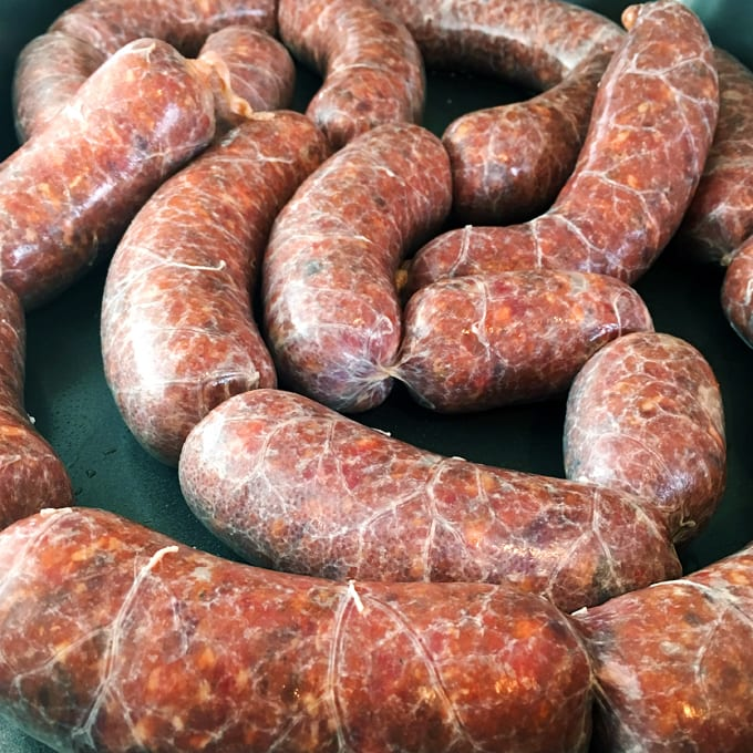 Sweet and Savory Elk Sausages
