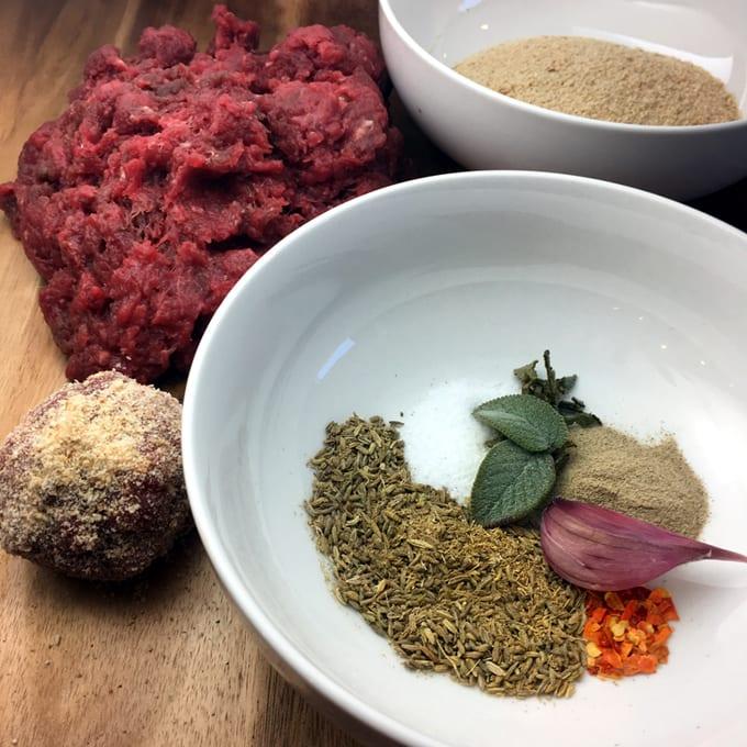 Fried Antelope Meatballs