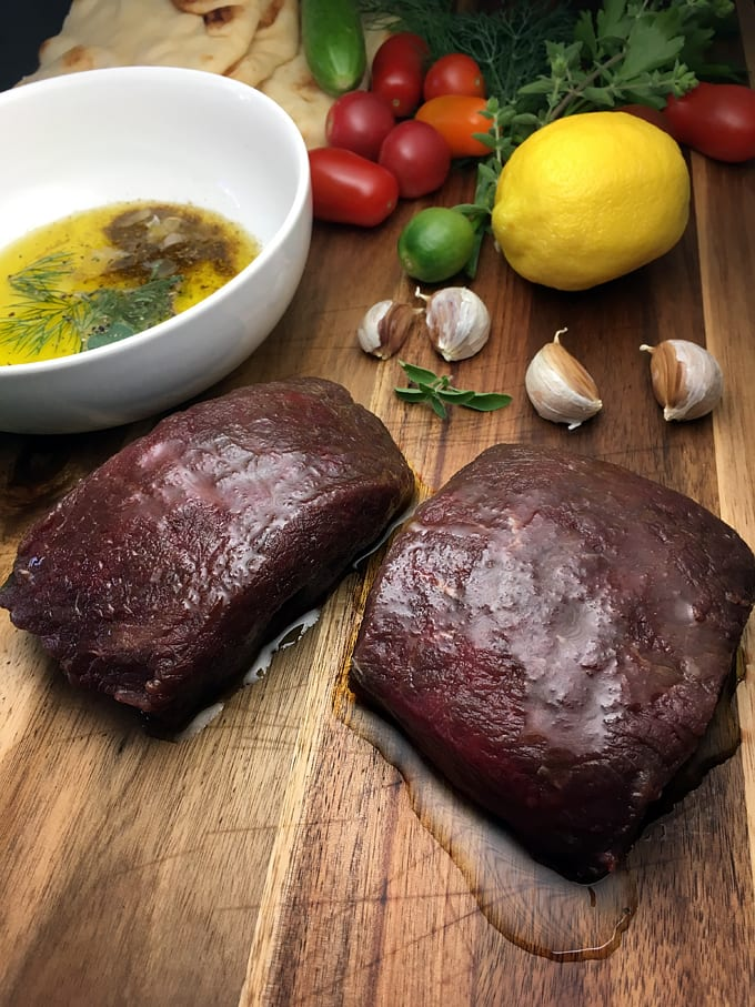 Citrus-Marinated Elk Steaks