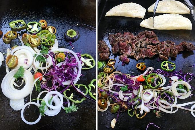 Elk Fajitas with Summer Vegetables