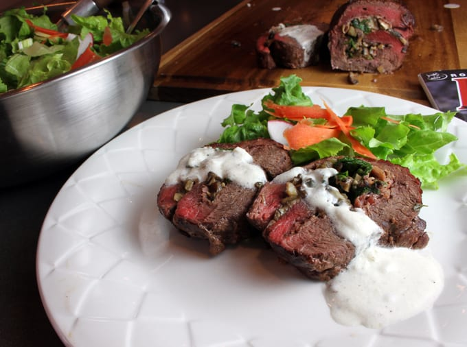 Succulent Elk Roulade with Creamy Gorgonzola Sauce