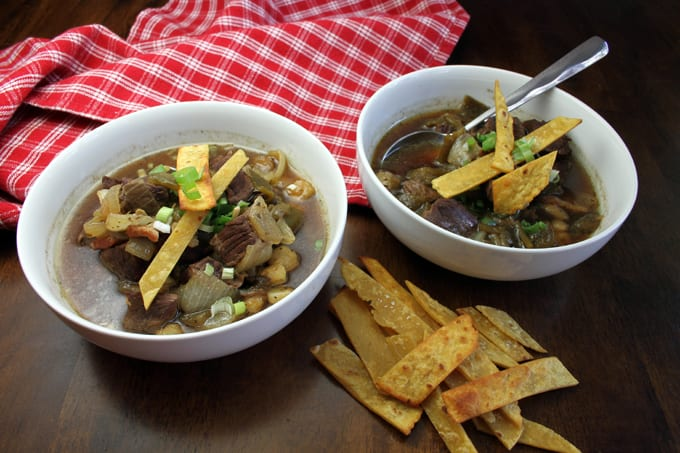 Venison Green Chile Stew with a Kick
