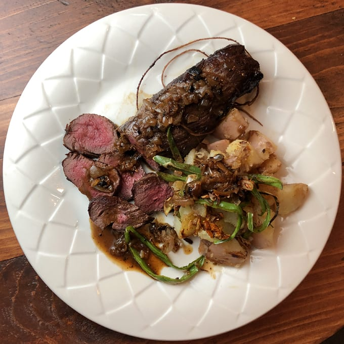 Seared Elk Tenderloin with Pan Sauce