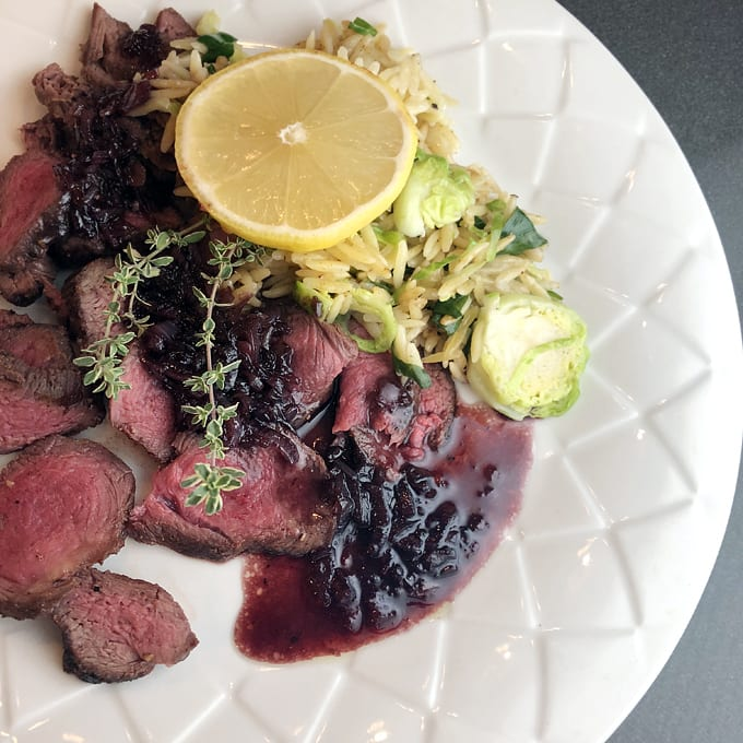 Deer Steaks with Blackberry Pan Sauce