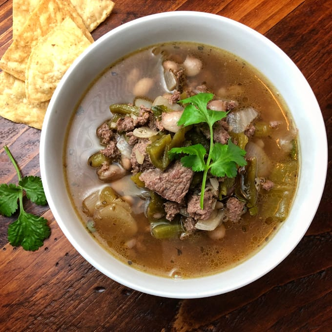 Antelope Chile Verde Stew