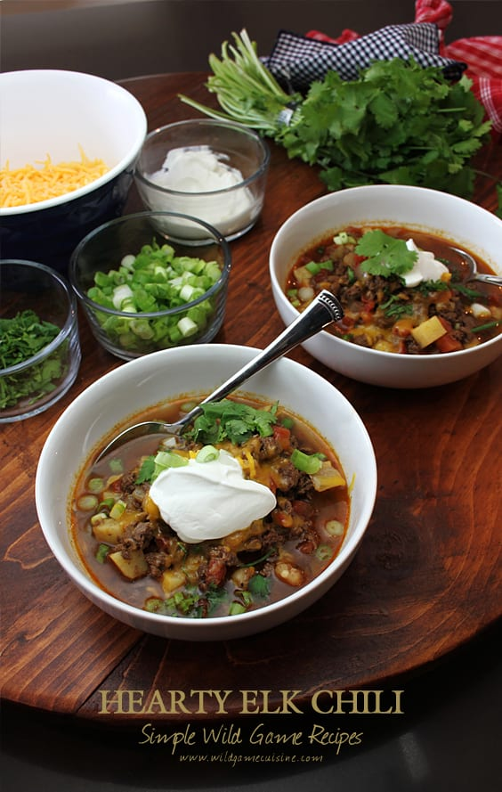 Elk Chili with Sweet Potato and Hominy