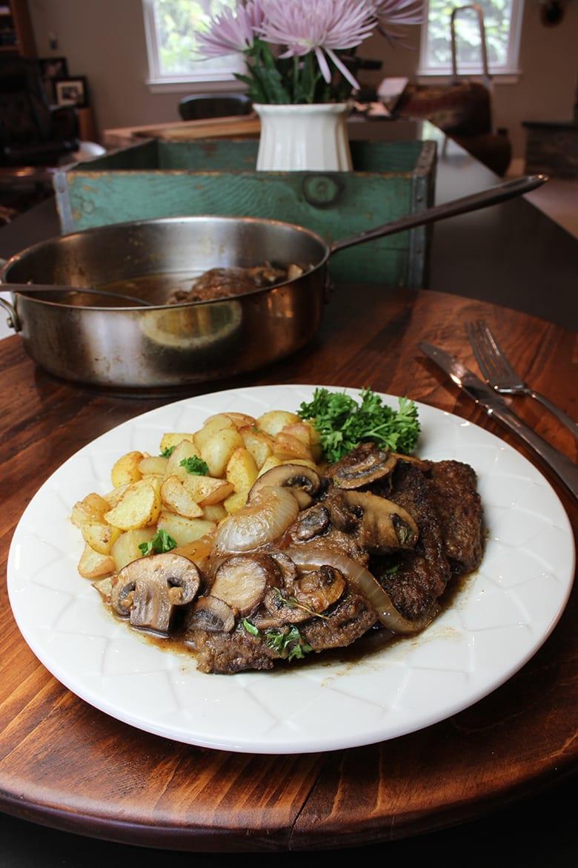 Elk Swiss Steak and Gravy