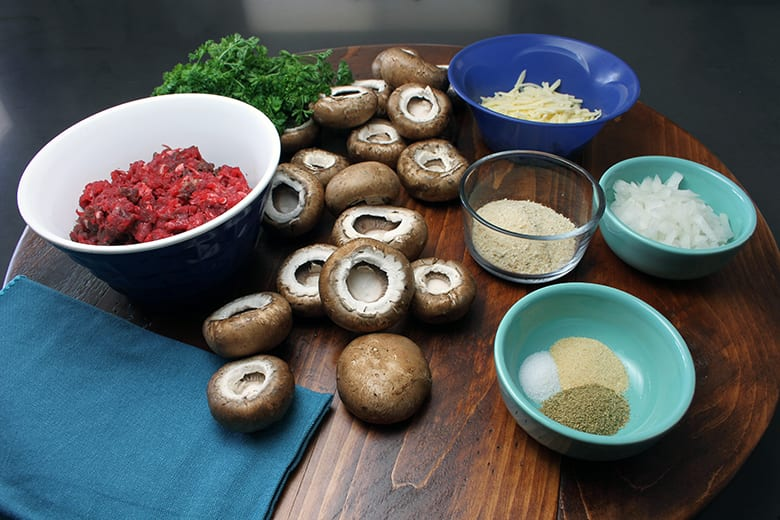 Elk Stuffed Mushroom Appetizers