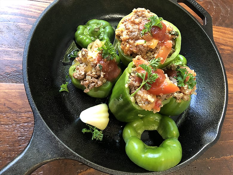 Venison Stuffed Bell Peppers