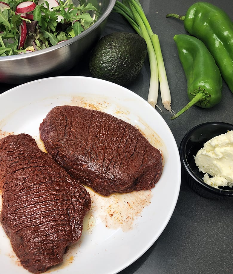 Seasoned Elk Steak with Lime Butter