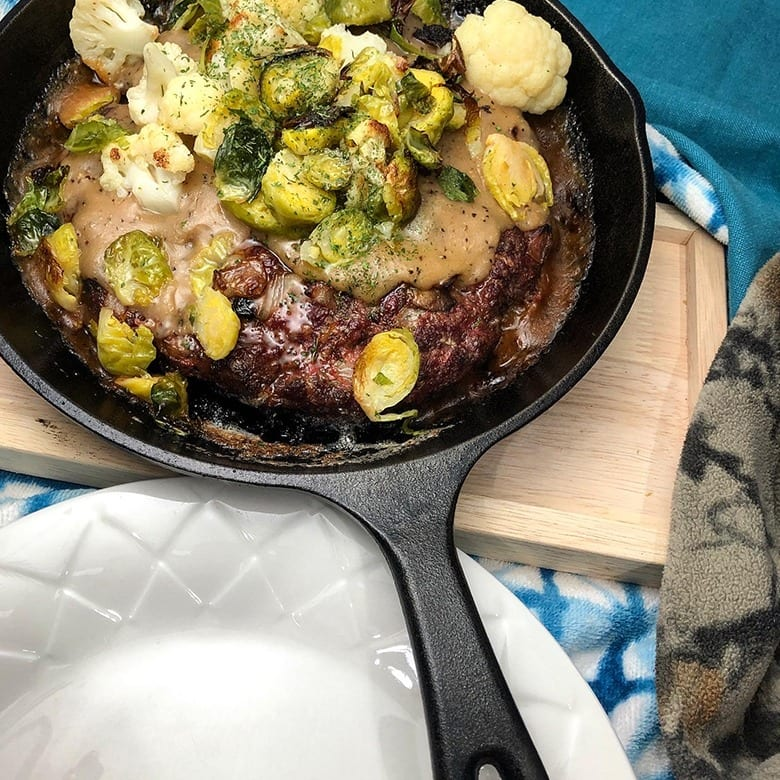 Venison Mushroom Meatloaf